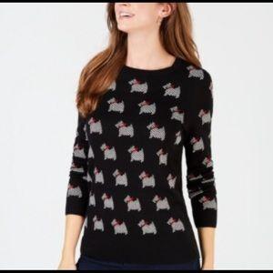 Charter Club SCOTTIE DOG Sweater~sz M